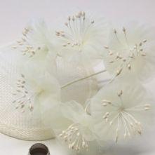 Ivory Organza Summer Blossoms x6